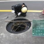 鉄蓋受枠を舗装レベルに調整